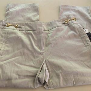 NEW Olivia & Martin Beige Capri Pants Cropped Work
